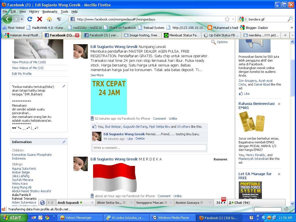 Up Date Status FB Dengan Gambar Bergerak Gif NAQS DNA